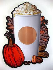 """Starbucks Store Display Sign Pumpkin Spice Cardboard Wall Advertisement 12x19"""""""