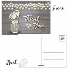 Rustic Wood & Lights Thank You Postcards - 50 Thank You Postcards - B17016