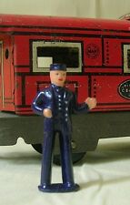 Train Conductor, Ticket Taker, O scale model train layout figure, Reproduction