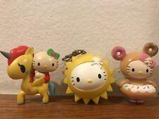 HK 7-11 x Tokidoki x Sanrio Hello Kitty Unicorn Figure Lot Of 3 **READ**