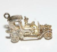 Classic Car Sterling Silver Vintage Bracelet Charm With Gift Box