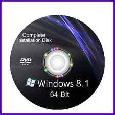 Windows 8.1 64 bit install reinstall refresh recovery repair DVD Disc Support
