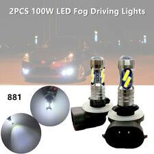 2pc 100W High Power LED Fog Driving Light Bulb 881 862 886 889 894 896 898 White