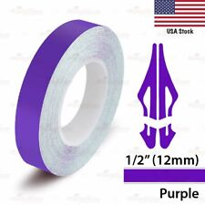 "1/2"" Vinyl Pinstriping Pin Stripe Car Styling Tape Decal Sticker 12mm PURPLE"