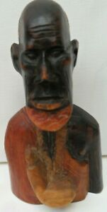 """Wooden African Male head/Bust Sculpture/Carving 6.5"""" x 4.0"""""""