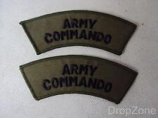 NEW Pair British ARMY Commando Shoulder Titles / Badges / Patches