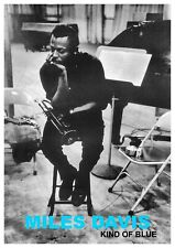 "Reproduction ""Miles Davis - Kind Of Blue"" Poster, Jazz, Vintage Print, Size: A2"