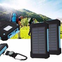300000mAh Portable Solar Panel 2 USB External Battery Power Bank Pack Charger