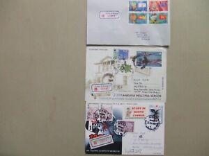 Three Turkey registered covers:2X postal stationery,1X fdc