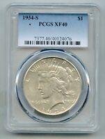 1934 S Peace Silver Dollar PCGS XF 40