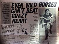 m2c ephemera 1972 picture cyclist franco bitossi crazy heart