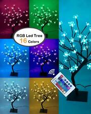 Lightshare 18Inch Cherry Blossom Bonsai Tree, 48 Led Lights, Rgb With Remote Con