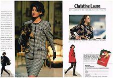 Publicité Advertising 1992 (2 pages) Pret à porter vetement Christine Laure