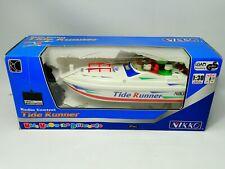 NIKKO Vintage RC Boat Tide Runner Speedboat 1:30 Scale New old stock boxed