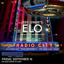 "Jeff Lynne'S Electric Light Orchestra ""Universe Tour"" 2016 Nyc Concert Poster"