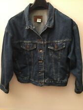 Original Levi's The Trucker Jacket 527 0295 Blue Marble Denim Size L Made In USA