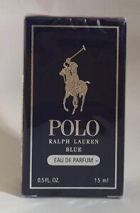 Ralph Lauren Polo Blue For Men Travel Deluxe Size 0.5 oz / 15 ml EDP Splash