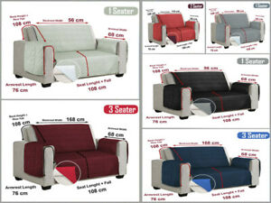 Quilted Sofa Slip Cover Throw Pet Protector Furniture Couch 1, 2, 3 Settee Size
