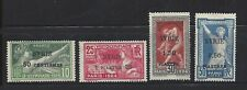 Syria 1924 Olympics Surcharges, Scott 133 - 136 MNG, SCV $120 for OG