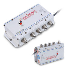 4 Way CATV VCR TV Antenna Signal Amplifier Booster Splitter 20DB 45-860MHz AMP