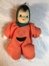 "Vintage Halloween Mini Clown Porcelain Head Cloth Body 5"""