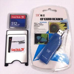 CNC 512M CF Compact Flash card+CF-PCMCIA Adapter+SSK USB2.0 reader FANUC