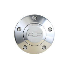 Laser Engraved Polished Billet Horn Button With Chevy Bowtie Logo Free Shipping