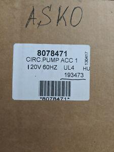 New Genuine OEM Asko Main Circulation Pump / Motor Part #8078471