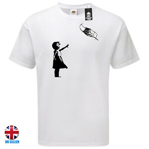 Banksy Tshirt Girl With Red Ballon Parody Pandemic Look Closely