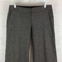 Divided by H&M womens size 10 x 33 gray wool blend low rise wide-leg dress pants