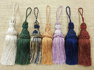 Decorative Duchy Key Tassel Curtain Cushion Tassle 15cm +9cm loop Tasell Tassell