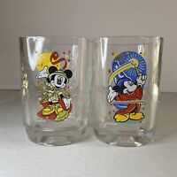 Walt Disney World Millenium 2000 Glasses (McDonald's) Mickey Mouse Set of 2 Cups