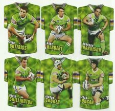 2009 NRL Select Classic CANBERRA RAIDERS Die Cut Holofoil Team Set 6 CARDS