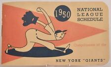 1950 MLB National League Baseball Pocket Schedule Booklet New York Giants