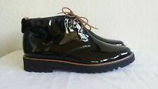New Paul Green black patent leather booties. szAU 6.5 US 9. RT$295