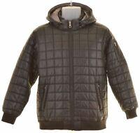 NIKE Boys Padded Jacket 12-13 Years Large Black Nylon  MB01