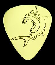 HAMMERHEAD SHARK -Solid Brass Guitar Pick,Acoustic,Electric,Mandolin,Bass