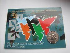 2 zł GN  I. Olimpijskie Atlanta 1996 blister ozdobny UNC