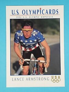 1992 Impel US Olympic Hopefuls Olympicards RC Lance Armstrong USA #31 🚲