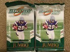 F81C (2) 2007 Score FOOTBALL Jumbo Pack Lot 32ct FREE SHIPPING