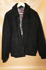 #158 Ted Baker Nebrask Shearling Collar Suede Bomber Size 5   RETAIL $819