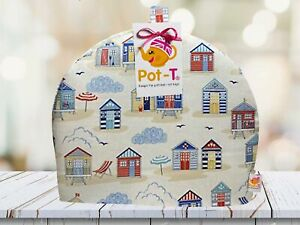 Pot-T INSULATED Large Tea Cosy Cozy in Beach Huts in Maxi size