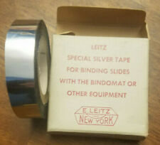 E. Leitz Special Silver Tape - Binds Slides with Bindomat , 70 feet.