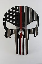 Punisher flag trailer hitch cover black with red line