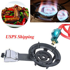 USPS Portable Camp Single Cooktop Burner Propane Gas Stove BBQ Picnic Tailgating