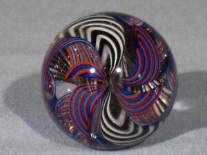 "Marbles: Hand Made Art Glass James Alloway Dichroic ""Supernova2""#137    1.35inch"