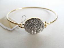 Michael Kors Gold-tone Bangle Bracelet with Czech Crystals Charm Disc MKJ3891710