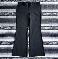 Express Editor Sz 10 Flat Front BootCut Dress Career Pants Black White Pinstripe