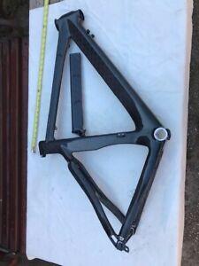 Carbon Fiber Race Frame, Large 58 cm, with carbon sit post, special made, black