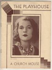 """Ruth Gordon  """"A Church Mouse""""  Playbill  1931   Bert Lytell,  Louise Kirtland"""